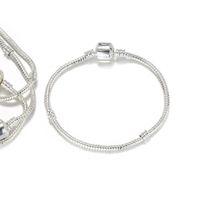 3 mm 15-23cm 925 bracelets en argent de 3 mm Serpent chaîne Fit Pandora Charm Bead Bracelet bricolage Bijoux Cadeau pour Homme Femme