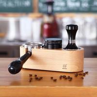 قابلة لإعادة الاستخدام Barista الخشب القهوة العبث حامل إسبرسو حامل قاعدة ماكينة أكسسوارات القهوة مجموعات 58 / 51/53mm1