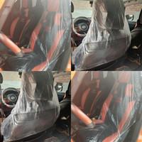 Automóviles silla del coche transparente manga desechable de plástico cubiertas de los asientos Asientos de limpieza automática de las mangas interiores Productos de limpieza 0 29kl G19
