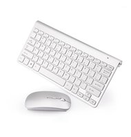 Teclado Mouse Combos Mini Slim 2.4G Sem Fio e Conjunto com Botões Multi-Função Ergonômico Combo Silent PC Mice1