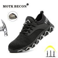 Motk Becon Indestrutível Sapatos Ryder para Homens Dedos De Texto Sapatilhas De Segundo Peso Ao Ar Livre Trabalho Ao Ar Livre Sneakers Puncture Prova Botas 906 Y200915