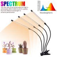 Tabletop LED wachsen Licht 60W 5V Dimmbare Vier-Rohr-Flach Clip Betriebslicht Full Spectrum Weiß Warm für Zimmerpflanzen