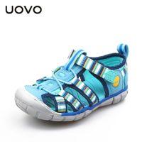 Уово Новые детские сандалии для мальчиков и девочек летние детские пляжные ботинки мода крючок и петля детская обувь размер 26 # -33 # 201201