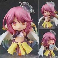 Anime 10cm q Versión Sin juego No Life Shiro Jibril 794 # Cambiar cara PVC Figura Figura Colección Modelo Juguetes Doll Gift Lelakaya T200304