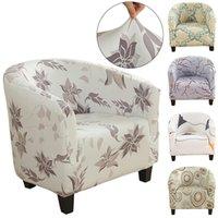 أغطية كرسي تمتد النادي المطبوعة حوض الأزهار الأريكة غطاء الأرائك كراسي الغلاف مقعد واحد ل بار عداد غرفة المعيشة