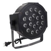 Heißer Verkauf 30W 18-RGB-LED-Auto / Sprachsteuerung DMX512 Hohe Helligkeit Mini-Bühnenlampe (AC 110-240V) schwarz dimmbare bewegliche Kopfleuchten