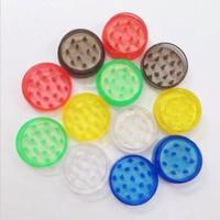 Grinder en plastique Hachoir de fumer 60mm pour meuleuses acryliques tube détecteurs de fumée pour tortueuse émoussé en plastique Accessoires pour fumer CCD1641