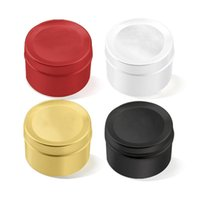 50ml 금속 둥근 틴 컨테이너 저장 알루미늄 깡통 항아리 스크류 탑 주석 캔 저장소 향신료 사탕