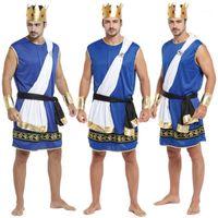Yeni Yetişkin Adam Zeus Kostümleri Erkek Çünkü Fantezi Elbise Antik Yunanistan Kral Cosplay Giysileri Karnaval Cadılar Bayramı Noel Masquerade1