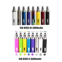 GS Ego II 2200mAH Riesige Kapazität Batterie Elektronische Zigarette CE4 MT3 Protank Eerotank Mega Nautilus Mods Ego Zerstäuber