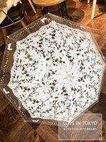 [Águila] moda sol paraguas algodón bordado paraguas nupcial blanco marfil battenburg encaje parasol wedding1