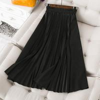 2021 تصميم جديد المرأة عالية مرونة الخصر مطوي توسع كبير ماكسي طويل تنورة إلكتروني طباعة زائد حجم تنورة s m m l xl