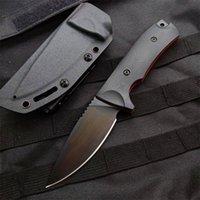 Özel Teklif Açık Survival Düz Bıçak VG10 Damla Noktası Siyah Bıçak Tam Tang G10 Kolu Kydex ile Sabit Bıçaklar Bıçaklar