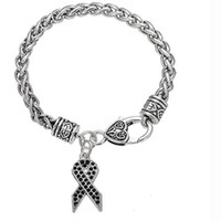 Rosa Charms Farben Bewusstsein Crystal Mix Ribbon Cancer Armband