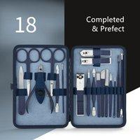 Kits Nail Art Kit Blue Manicure Tools Set Pro Max Acciaio Inox Professional Clipper Kit di Pedicure Nippers Trimmer Taglia