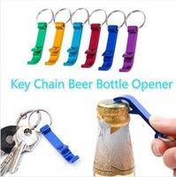 Tragbare Mini-Flaschenöffner Schlüsselanhänger Aluminiumlegierung Bierflasche Dosenöffner Schlüsselring-Kette Küche-Stab-Werkzeug Mithelfer DDA693