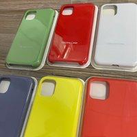 Ej fullständig omslag Officiellt flytande Solid Silikongelhölje för iPhone 12 Mini 12 Pro Max 250pcs / Lot Blister Pack