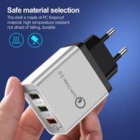 QC 3.0 USB 벽 충전기 빠른 요금 1 포트 및 3 포트 US EU 플러그 고속 충전 3.1A 핸드폰 어댑터