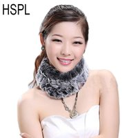 bufanda de la piel de las mujeres anillo de punto de piel Rex HSPL pañuelo en la cabeza Neckwarmer 2020 señoras calientes de las vendas de punto más caliente la cabeza