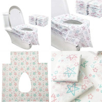 실용적인 일회용 화장실 종이 스타 인쇄 nonwoven potty protector 방수 밤 의자 좌석 커버 홈 호텔 욕실 12 5CR E19