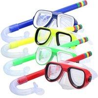 Masques de plongée Enfants Coffre-fort Masque de plongée en apnée + Snorkel Set PVC Haute Qualité 5 couleurs Scuba Natation Sports nautiques pour enfant 3-8 ans1
