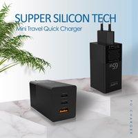 PD 충전기 65W 고속 충전 (1 * USB-C 2 * 유형 C) 기술이있는 스마트 장치 QC3.0 벽 어댑터 용 스마트 폰 정제