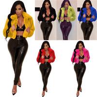 패션 여성 의류 셰르파 자켓 양털 무성한 겨울 코트 두꺼운 소프트 카디건 짧은 코트 자켓 봉제 재킷 외투 D111107을 따뜻하게