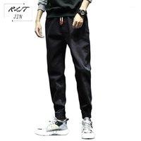 Rljt.jin tendência direção alta rua baggy harem calças homens jeans casuais que transformam cabeças japonês estilo simples casual calça1