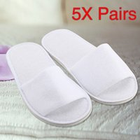 5 pares sapatos mulher spa hotel hóspede chinelos abertos toe toe toweling toy estilos caseiros sapatos chaussures femme chinelos # cn30