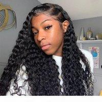 Kinky Curly Full Dentelle Perruques Humaines Perruques Preflinées Poil Cheveux avec Cheveux De Bébé Indian Cheveux Vierge Dentelle Perruque avant