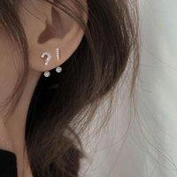 Stud Simple Tempéramment Trend Symbole Asymétrique Boucles d'oreilles pour femmes Bijoux Accessoires Cadeaux de fête Brincos Sae533