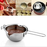 Nuova vaso di fusione di cioccolato in acciaio inox doppia caldaia latte di latte burro caramella calda per pasticceria strumenti di cottura 148 G2
