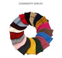 18 Farben Individuelle LOGO Fashion Mützen Hüte Bonnet WinterBeanie gestrickte Acryl Hut Skullies Dickere Maske Fringe Hüte Mann Frauen EEC2935