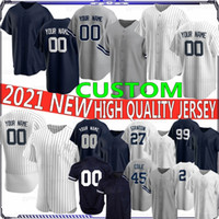 99 Aaron Juiz 2 Derek Jeter 27 Giancarlo Stanton Personalizado 2021 Novas jerseys de beisebol 45 Cole Gerrit 24 Gary Sanchez Bordado
