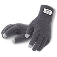 Winter Autumn Men Knitted Gloves Touch Screen High Quality M...