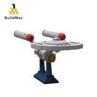 Buildmoc 미니 6021 스타 트렉 시리즈 완구 NCC-1701 봉쇄 러너 설정 교육 빌딩 블록 벽돌 아이 C1115