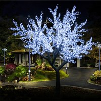 6 LED Cor de cereja LED Blossom Tree Luz Artificial Árvore Luz 3456pcs Lâmpadas LED 3m Altura 110 / 220VAC