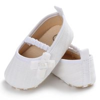 Knit Bow Tight Baby Girl Shoes Non-slip Breathable Toddler Shoes Children First Walkers Elastic Band
