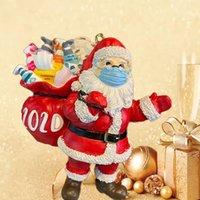 2020 Рождественские украшения подарков Персонализированные Висячие Penguin Подвески 3D Смола Санта-Клауса Рождественская елка украшения Домашний декор