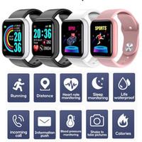 D20 Smart Bracte Brit Band 150MAH Фитнес-трекер Bluetooth Спортивные часы с 1,3 дюйма дисплея Водонепроницаемый монитор Браслет