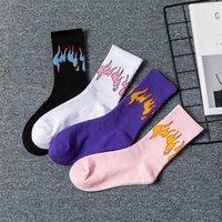 10 pairs / lot - Erkekler Moda Hiphop HiP Rengi Içinde Vuruş Çorapları Unisex Alev Blaze Güç Torch Kaykay Pamuk Çorap WZ211