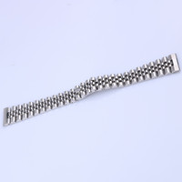 22mm 316L Jubilee Silver Steel Solid Straight End Screw Links Wrist Watch Band Bracelet For GMT SUB Datejust