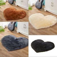 모방 양모 러그 러브 하트 모양의 큰 거실 봉제 봉제 패션 카펫 순수한 색 소파 쿠션 뜨거운 판매 21xb3 J2