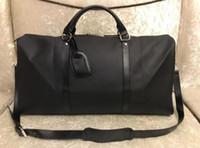 2021 جديد أزياء الرجال والنساء حقيبة سفر القماش الخشن حقيبة الأمتعة سعة كبيرة حقيبة رياضية سستة 55 سنتيمتر
