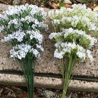 Branca flores artificiais casamento de silicone suave Gypsophila Detalhes Mulher Bouquets Marry partido Home Decor Supplies 1 97rs G2