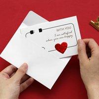 Valentine cartão cartão impresso letras bronzing cartões com envelope casamento aniversário namorados presente diy cartões 165 J2
