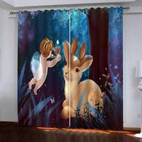 cartoon curtains kids curtain Window Blackout Luxury 3D Curt...