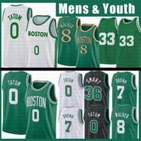 Boston Celtics Kemba 8 Walker Jayson 0 Tatum NCAA Basketball Jersey Larry 33 Bird Jaylen 7 Brown 20 Hayward Marcus 36 Smart Youth Men Kids 2021 New Retro