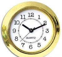 37mm goedkope en gouden kwaliteit NI Clock Gold Plastic Fit Up Clock Insert Arbic Numerals Jllzak LadyShome