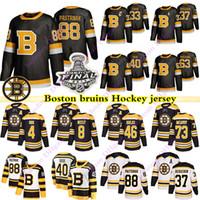 Boston Bruins Jerseys 88 David Pastrnak 63 Brad Marchand 33 Zdeno Chara 37 Patrice Bergeron 4 Bobby Orr 40 Tuukka Rask Hockey Jersey
